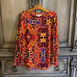 Ann Taylor Loft floral small open sleeve shirt.